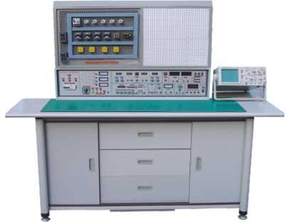 HYKL-840C 通用电工、模电、数电、电拖(带直流电机)实验与电工、模电、数电、电拖(带直流电机)技能实训考核综合装置