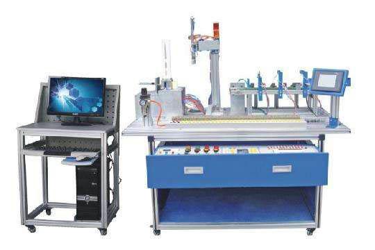 一、装置的构成: 实训装置由 由铝合金导轨式实训台、典型的机电一体化设备的机械部件、 PLC 模块、变频器模块、按钮模块、电源模块、模拟生产设备实训模块、接线端子排和各种传感器、计算机等组成。整体结构采用开放式和拆装式,实训装置用于机械部件组装,可根据现有的机械部件组装生产设备,也可添加机械部件组装其他生产设备,使整个装置能够灵活的按教学或竞赛要求组装具有生产功能的机电一体化设备。模块采用标准结构和抽屉式模块放置架,互换性强;按具有生产性功能和整合学习功能的原则确定模块内容,使教学或竞赛时可方便的选择需要